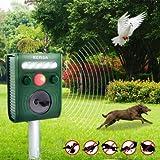 Generic Garden Ultrasonic Pir Sensor Solar Animal Repeller Strong Flashlight Bird Repel