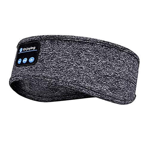 Schlafkopfhörer Bluetooth, Bluetooth Schlafmaske,, drahtlose Bluetooth 5.1-Kopfhörer Musikreise Schlafkopfhörer Freisprech-Schlafmaske mit eingebauten Lautsprechern für seitliches Schlafen, Laufen
