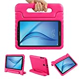 Color Our Life Samsung Galaxy Tab E 9.6 Kiddie Case-Shock Proof Light Weight Convertible Handle Stand Cover for Samsung Galaxy Tab E 9.6 Inch Tablet, Rose