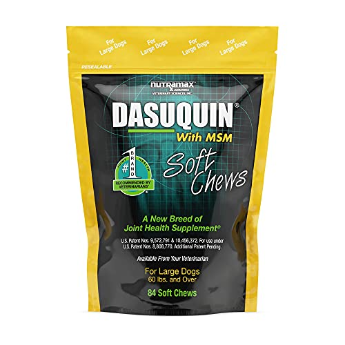 DASUQUIN MSM Soft Chews for Large Dogs 60 lbs. +, Count of 84, 7.5 in