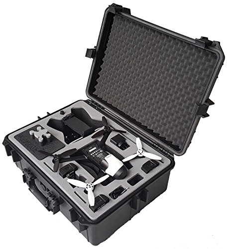 Professional Carry case fits for Parrot Bebop 2 and Bebop 2 Power with Sky Controller 2 and Goggles Made by MC-CASES - Excellent Cases - The Original (Parrot Bebop 2 FPV)
