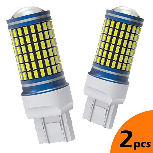 LUMENEX 7443 7440 W21/5W 7440NA Bombilla LED 144SMD 3014 Chipsets 2X1800 Lúmenes Con Proyector Señal de Giro Luz Uso de Auto Para Freno Cola de Copia de Seguridad Reverse Luces Blanco (paquete de 2)