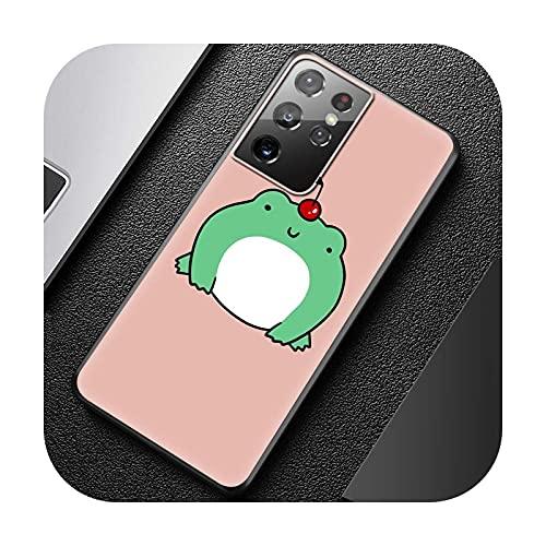 Funny The Frog - Carcasa de silicona para Samsung Galaxy S21 Ultra S20 FE S10 Plus S9 S8 S10e S7 5G Cover Fundas Capa-B02-para S20 Plus 5G