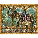 Cuadros Elefante Pintura Al Óleo Digital Cuadros Decorativos Pintados A Mano Lienzo Pintado Por Números Regalo de madre(16 * 20') cuadro