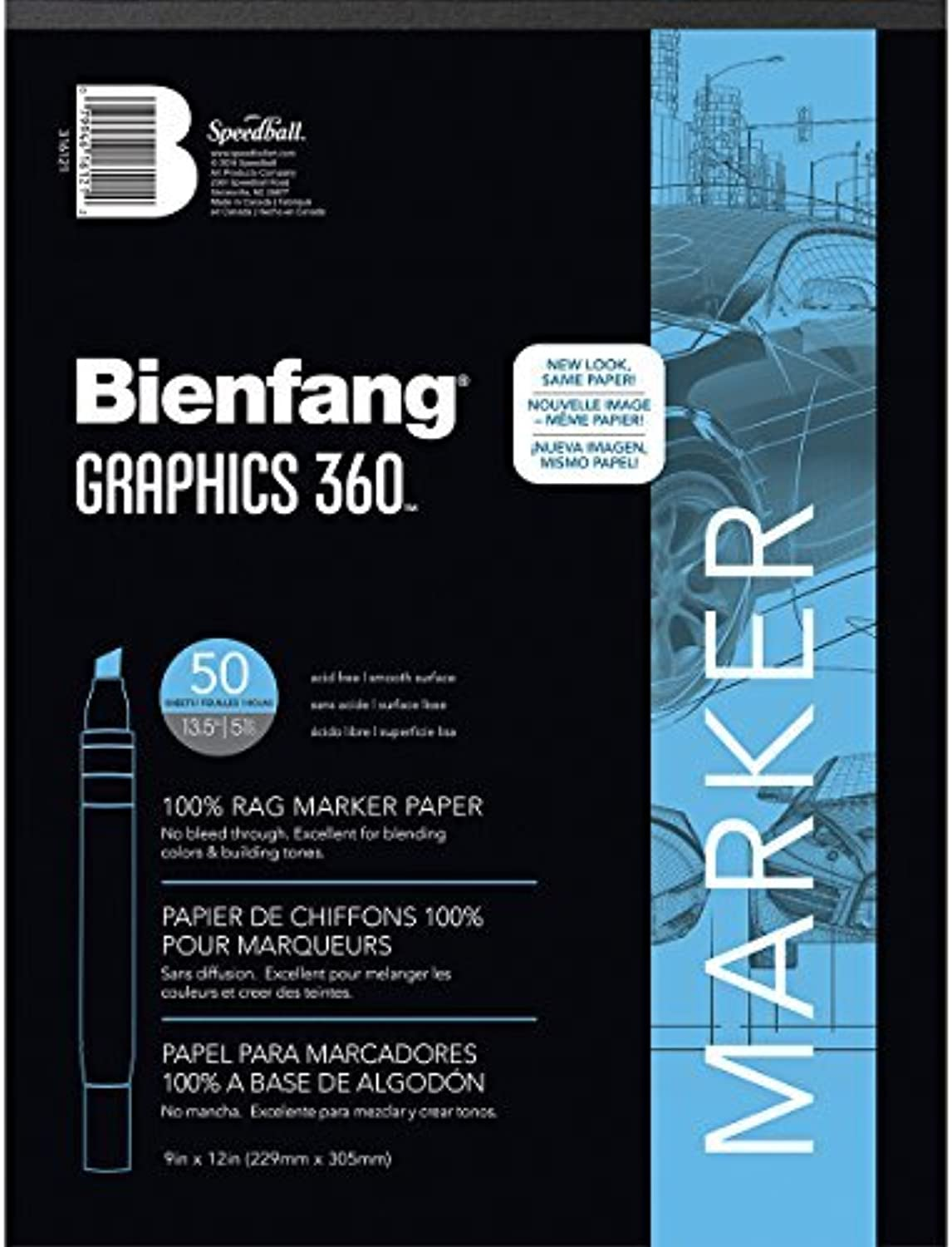 Speedball Art Products Products Products Bienfang Graphics 360 Marker Paper Pad 9-inch x 12-inch, 50 Sheets by Speedball Art Products B01MYLK78T   Zart  737c21