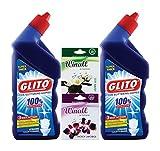 GLITO Toilet Cleaner 500 ml (Pack of 2)+ WINALL Air Freshener 50g(Pack of 2)