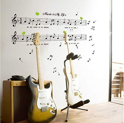 Musik Aufkleber Musik Ist Mein Leben Thema Musik Schlafzimmer Dekor & Tanzen Musik Hinweis Abnehmbare Wand Sticker1Set Größe 70 * 120Cm