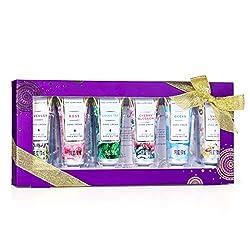 Mini Handcreme Geschenkset, Spa Luxetique 6er Pack Handcreme Mit Vitamin E, Feuchtigkeitsspendende Handcreme Für sehr Trockene Hände, Ideale Geschenkidee für Frauen