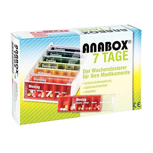 Anabox 7 Tage Regenbogen Medikamentenbox, 1 St