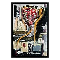 複製アート画像プリントキャンバス壁アート-現代の抽象的なストリートグラフィティアートポスター-ジャン・ミシェルバスキア-子供部屋の保育園幼稚園の壁絵画装飾,40×60cm