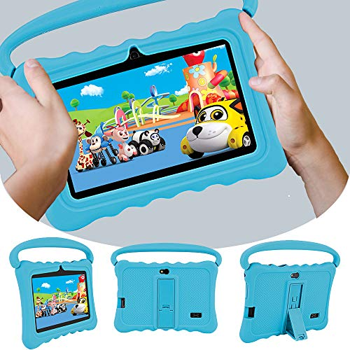MIALX Kids Tablet PC 7' HD, Quad Core Android 16GB, Tablets with Wifi Bluetooth Camera, Parental Control And Kids Software Pre-Installed, Kids Edition Tablets for Educationl Games with Case,Blue