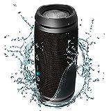 TREBLAB HD7 - Ultra Premium Portable Wireless Speaker - Loud 360°HD Sound w/Best Bass, TWS Dual Pairing, 12W Stereo, Bluetooth 5.0 Microphone Mic, Small & Mini for Travel, Bike, Beach (Renewed)