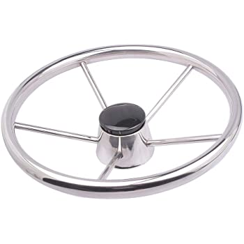 Boat Steering Wheel Stainless Steel 5 Spoke 13-1/2'' for Marine Yacht
