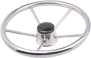 Boat Steering Wheel Stainless Steel 5 Spoke 13-1/2`` for Marine Yacht
