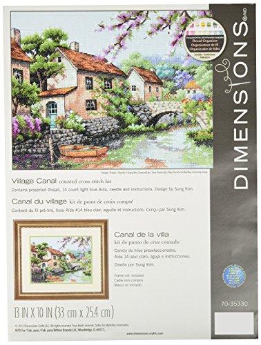 Dimensiones Village Canal de Punto de Kit de Punto de Cruz, 70–35330