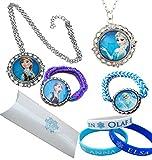 Orion Creations Eingefroren.Geschenkpackung. Snow Queen ELSA und Prinzessin Anna Halsketten mit...