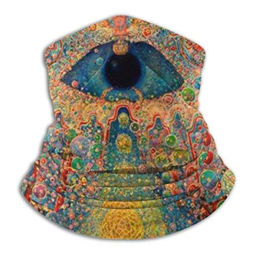 Seamless Face Mask Neck Gaiter, Buddha Trippy Multi Use Headwear Protection, Headband Bandana Mouth Cover Windproof Scarf for Men Balaclava