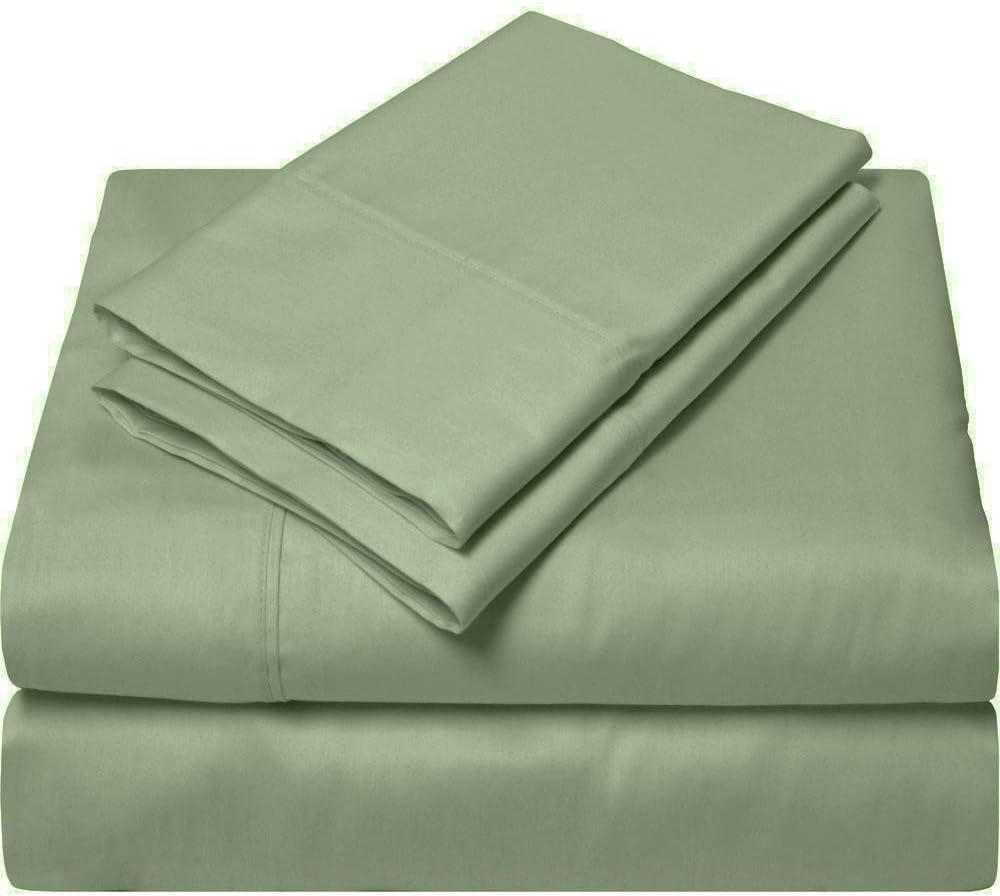 Now free shipping Apsley Linen Solid Color Egyptian Cotton Set Sheet 6-PCs Fitt 1 Bargain sale