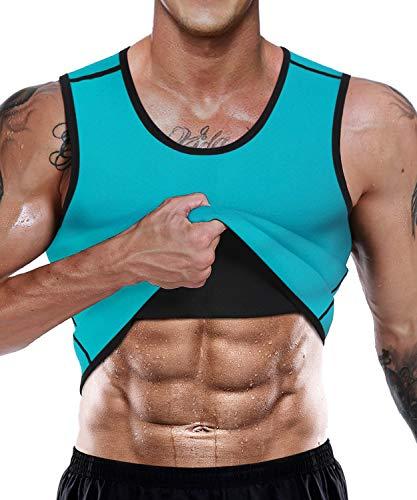 Chaleco sin mangas LaLaAreal, para hombre, de neopreno, de 10 mm, con cremallera, para pérdida de peso, desarrollo muscular, resistencia cardiovascular y fuerza muscular