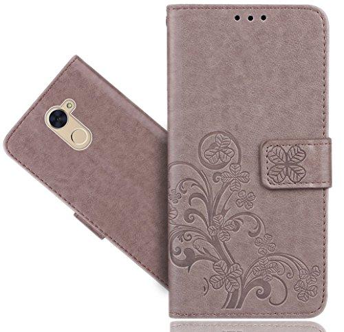 Huawei Ascend XT 2 / XT2 H1711/ Elate 4G LTE Case, FoneExpert Premium Leather Flower Kickstand Flip Wallet Bag Case Cover for Huawei Ascend XT 2 / XT2 H1711/ Elate 4G LTE