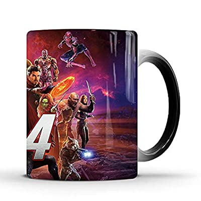 XHJBaby creative ceramic Heat-sensitive color changing coffee mug for Kids Halloween Christmas birthday gift
