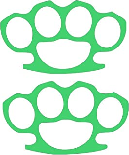 Brass Knuckles Street Fight (2 PACK) Vinyl Decal - size: 5