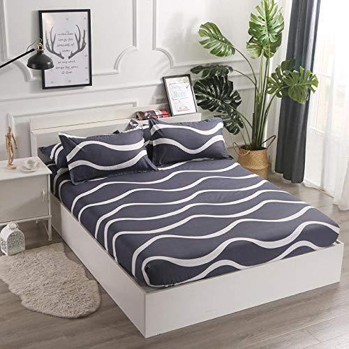 GTWOZNB Matratzenschoner Atmungsaktive Matratzenauflage, ohne Knistern, Die Bettlakenschutzhülle ist staubdicht und rutschfest - 5_150 * 200 cm