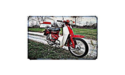 C90 Honda Cub motorfiets A4 bord Aluminium Metaal Retro Bike
