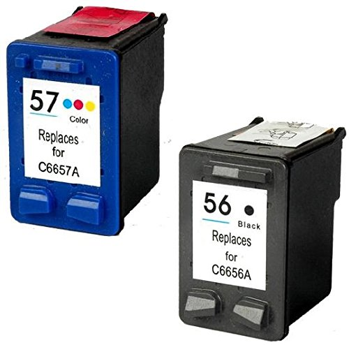 Prestige Cartridge 2 Compatible 56 57 Cartuchos de tinta para HP Deskjet 450 450CBi 5150 5550 9680 Officejet 4212 4215 5610 6110 Photosmart 7260 7350 7450 7960 PSC 1210 1215 1315 2110 | Alta Capacidad