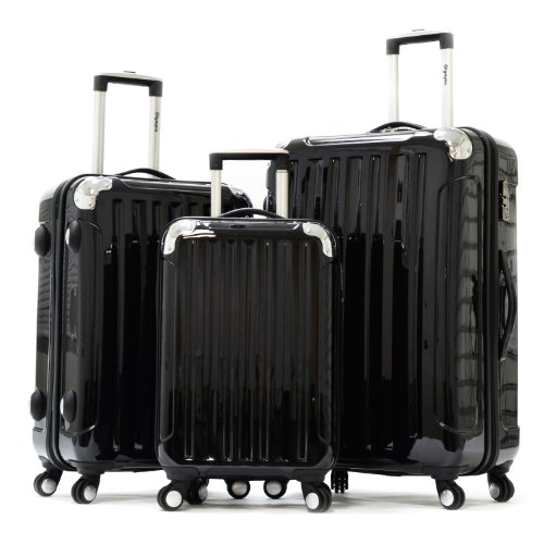 Olympia stanton 3pc Polycarbonate Hardcase Set Black, One Size
