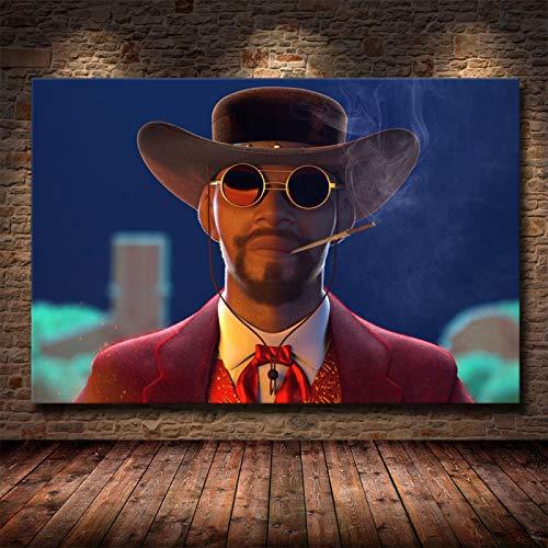 Weijiajia Quentin Poster e Stampe Tarantino Django Unchained Classic Film Art Pittura murale Immagini per Soggiorno Decorazioni per la casa 50x70 cm (19,68x27,55 in) F-1408
