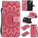 Hülle für Huawei Honor 7X Handyhülle Schutzhülle Leder PU Wallet Bumper Lederhülle Ledertasche Klapphülle Klappbar Magnetisch für Huawei Honor 7X - ZIKT030911 Rosa