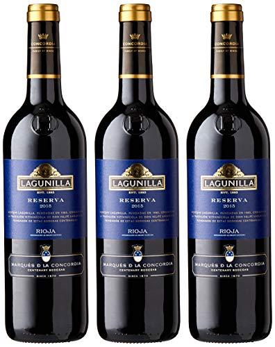 Lagunilla Reserva Vino Tinto Reserva D.O Rioja - 3 botellas x 750 ml - 2250 ml
