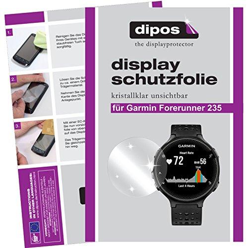dipos I 2X Schutzfolie klar kompatibel mit Garmin Forerunner 235 Folie Bildschirmschutzfolie