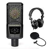 Lewitt LCT 441 Flex Condenser Microphone with Polsen HPC-A30 Studio Headphones & Pop Filter Bundle
