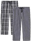 JINSHI Pantalones Cortos Mujer Verano Pijamas Algodón a Cuadros Casa 3/4 Pantalones Shorts de Salón ...