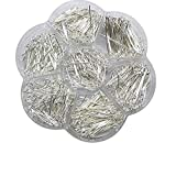 Chenkou Craft 700pcs Assorted of 7 Sizes Mix Eye Pins for Jewelry Making (Silver, Mix)