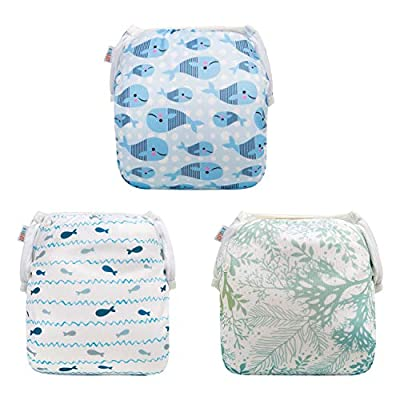 ALVABABY Swim Diapers 2pcs Reusable & Adjustable Baby Shower Gifts 0-2 Years3SWY02