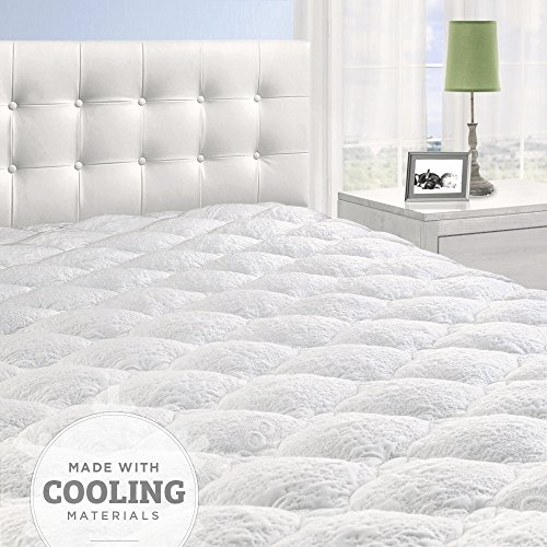 Cardinal & Crest Overfilled Cooling Pillow Top Mattress Pad with...