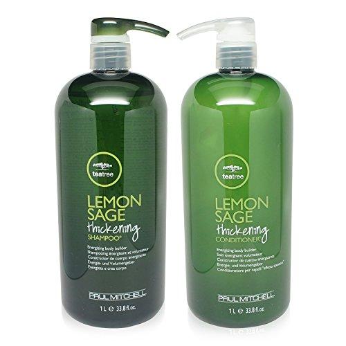 Paul Mitchell Tea Tree Lemon Sage Thickening Shampoo and Conditioner Set, 33.8 oz