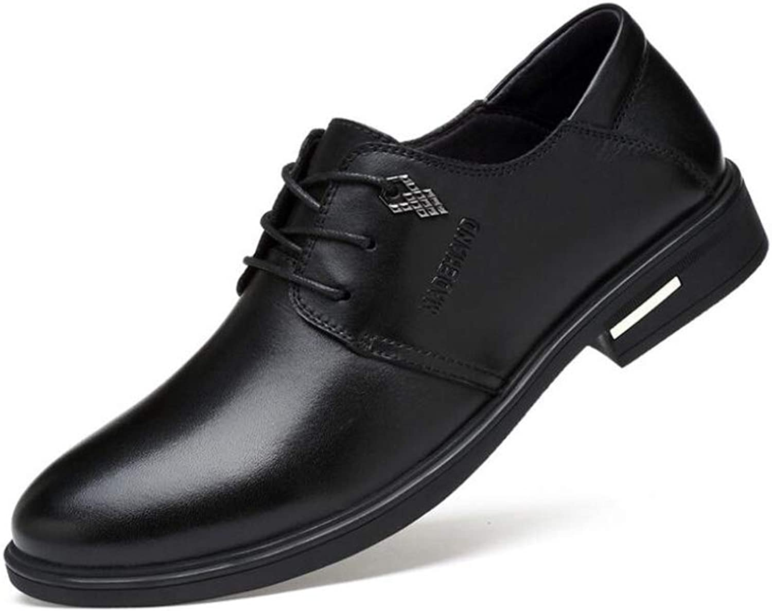Spring Fall New Men's shoes, Pointed Toe Casual Business shoes ,Fashion Dress shoes, Lace up Formal shoes,Wedding Casual Party (color   Black, Size   44)