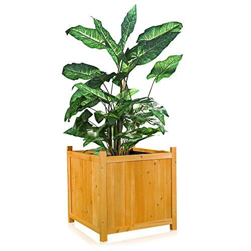 Melko Blumenkübel/Pflanzkasten Garten aus Holz 50 cm x 50 cm x 50 cm (B x L x H)