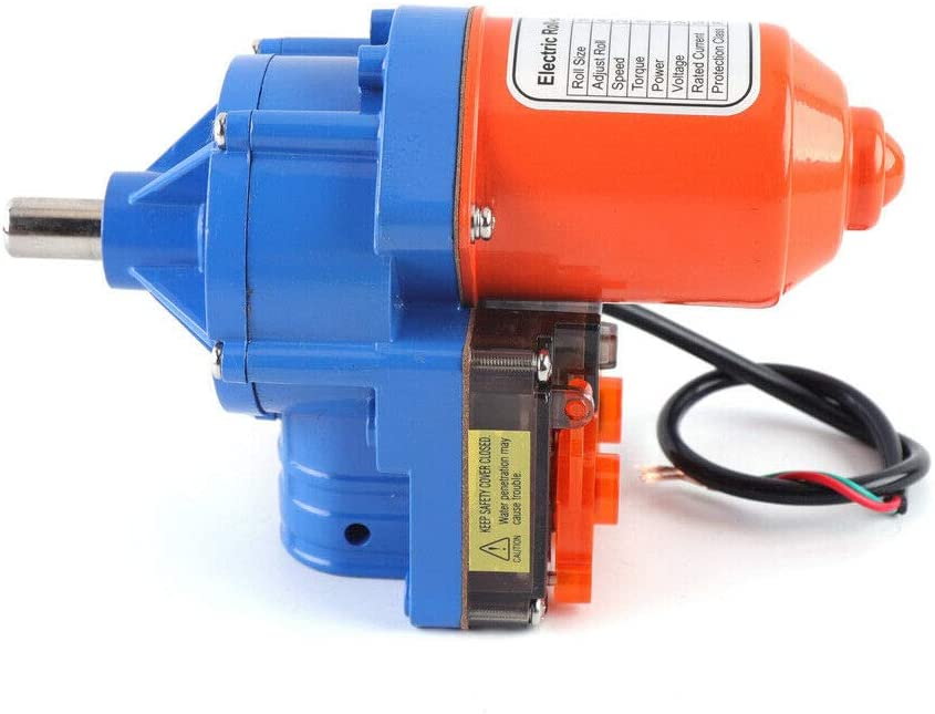 DIFU - Motor eléctrico enrollable para invernadero, 100 W, 24 V, 2,8 U/min, 100 m, tamaño de rollo