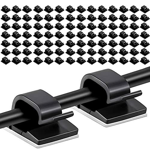 Drado 100 Clips de cable autoadhesivos Clips de alambre autoadhesivos Organizador de...