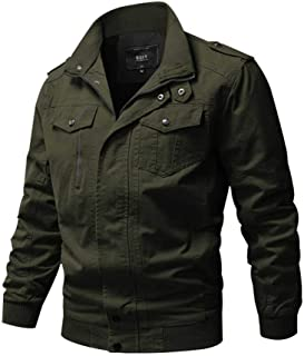 Jyg Mens Casual Cotton Military Windbreaker Jacket