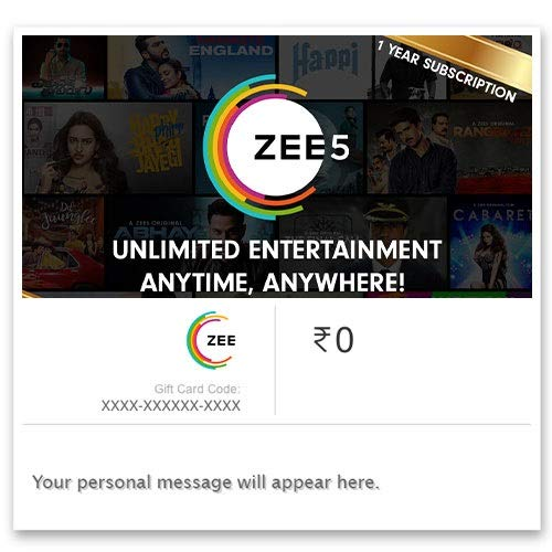 ZEE5 One Year Subscription Digital Voucher