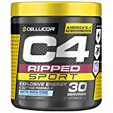 C4 Ripped Sport Pre Workout Powder Arctic Snow Cone - NSF Certified for Sport + Sugar Free Preworkout Energy Supplement for Men & Women - 135mg Caffeine + Weight Loss - 30 Servings