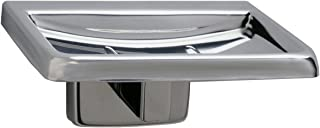 Bobrick 6807 Stainless Steel Surface-Mounted Soap Dish, Satin Finish, 4-1/4