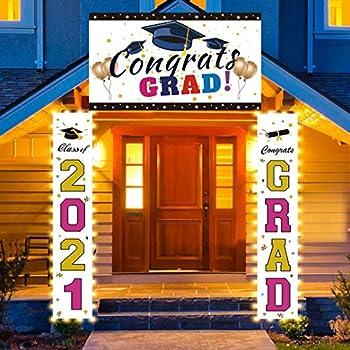 FAHZON LED Light up Graduation Decorations Set