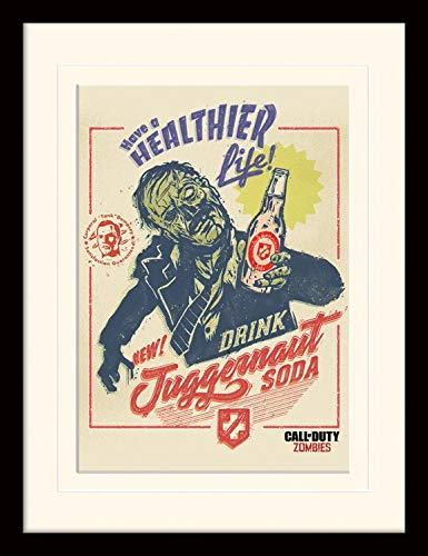 1art1 Call of Duty - Zombie Soda Gerahmtes Bild Mit Edlem Passepartout | Wand-Bilder | Kunstdruck Poster Im Bilderrahmen 40 x 30 cm